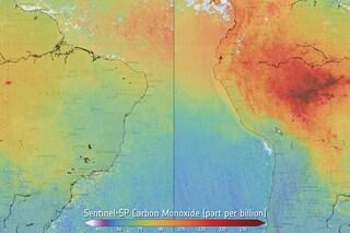 Allarme ESA: l'Amazzonia brucia e l'aria che respiriamo peggiora, la foto mostra l'inquinamento