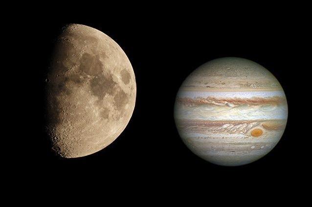 Credit: Luna/Andrea Centini – Giove/NASA