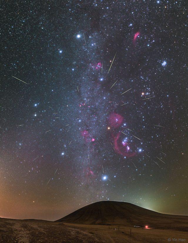 Orionidi sui cieli della Mongolia Credit: Yin Hao/NASA APOD