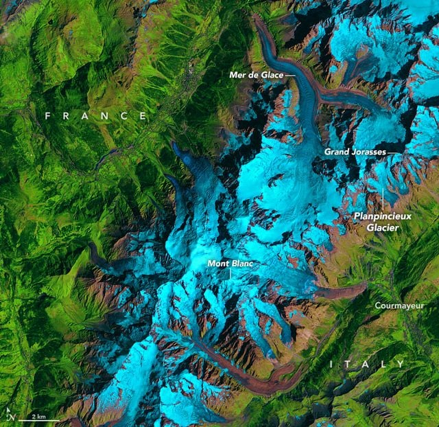 Ghiacciai Monte Bianco 1985