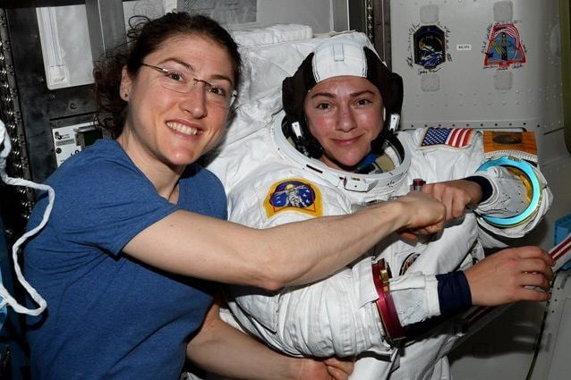 Credit: Jessica Meir/NASA/Twitter