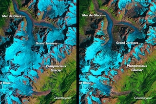 Ghiacciaio Planpincieux a rischio crollo: le immagini NASA mostrano com'è cambiato in 34 anni