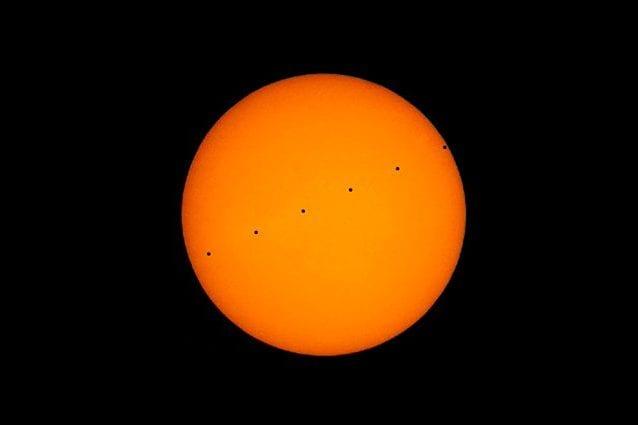 Transito di Mercurio, simulazione dell'11 novembre. Credit: LarryKoehn/Vimeo