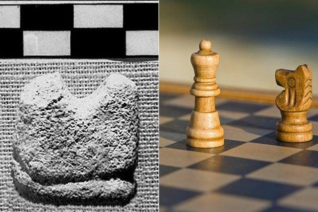 A sinistra il presunto scacco più antico. Credit: Olsen/Devanath