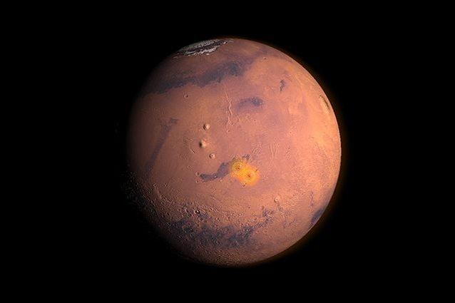 La zona sismica attiva su Marte. Credit: NASA