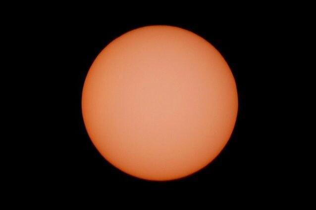 Il sole senza macchie solari. Credit: Andrea Centini