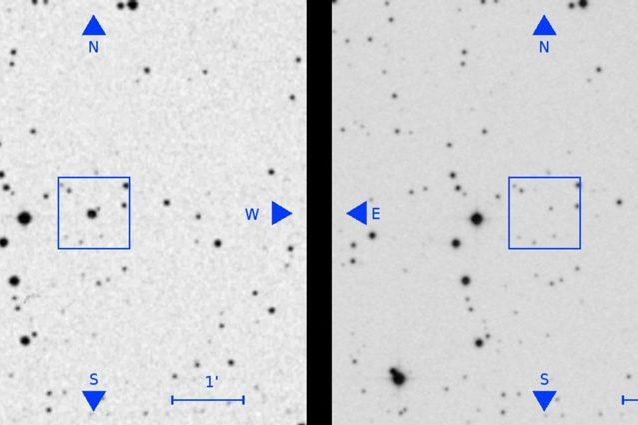 Una delle stelle scomparse. Credit: Villarroel et al.