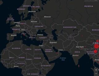 Coronavirus: la mappa del contagio in tempo reale, dalla Cina all'Italia