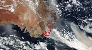 Il fumo degli incendi australiani ha fatto il giro del mondo