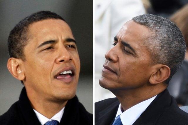 L'ex presidente degli Stati Uniti Barack Obama, prima e dopo il suo mandato. Credit: Università di Harvard