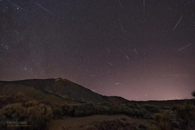 Pioggia di Quadrantidi nel cielo delle Canarie. Credit: Daniel López (El Cielo de Canarias)