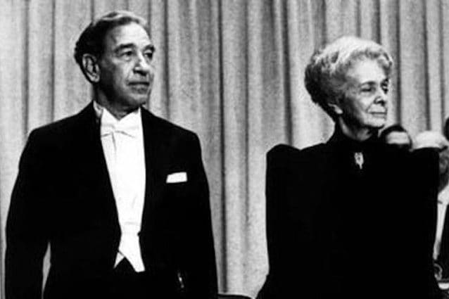 A sinistra Stanley Cohen, a destra Rita Levi Montalcini