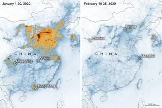 Coronavirus, drastico calo dell'inquinamento in Cina per l'epidemia: le immagini NASA
