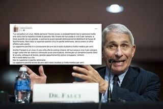 """""""La varicella è un virus"""": la dichiarazione che state condividendo tutti non è di Antony Fauci"""