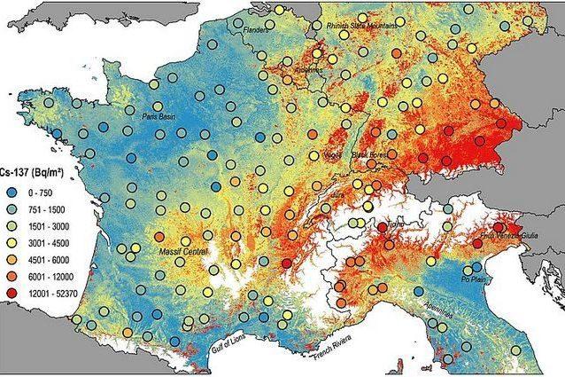 La mappa della contaminazione radioattiva in Europa. C'è anche il nord Italia