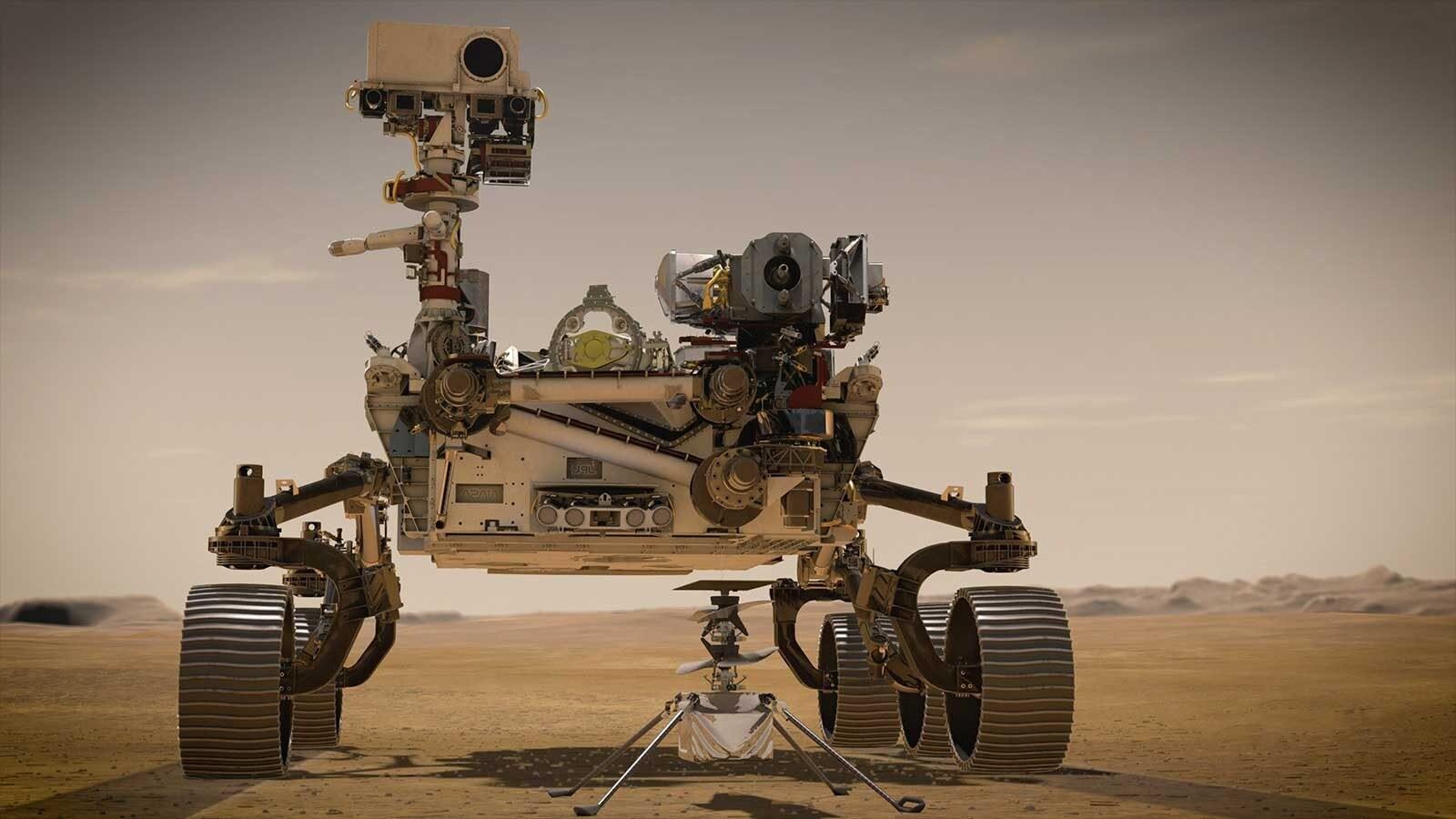 Il rover Perseverance e il velivolo Ingenuity / NASA