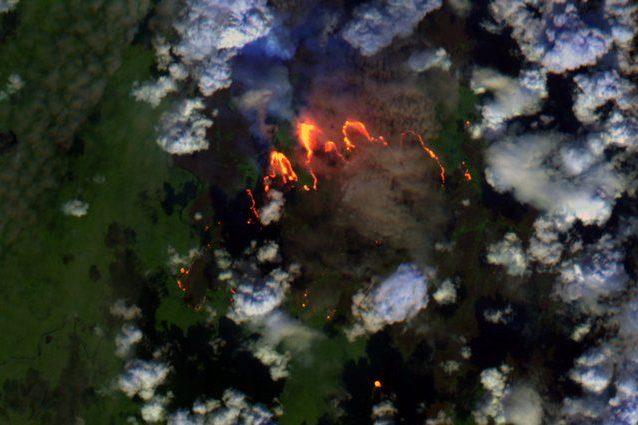 Incendi nei pressi del circolo polare Artico Credit: Sentinel/Copernicus