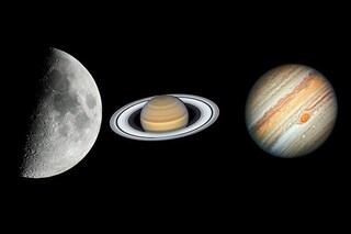 Stasera la Luna danza con Saturno e Giove: come vedere l'imperdibile spettacolo celeste