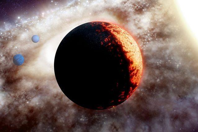 Un'illustrazione sulla super Terra TOI–561b. Credit: W. M. Keck Observatory/Adam Makarenko