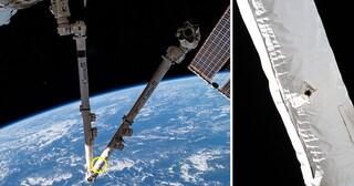Alcuni detriti spaziali hanno colpito e danneggiato la Stazione Spaziale Internazionale