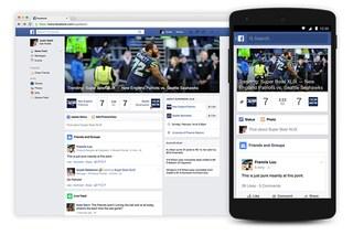 Facebook lancia una pagina per il Super Bowl 2015 con aggiornamenti live, foto e video