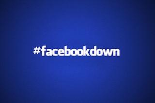 Facebook down: il social network non funziona