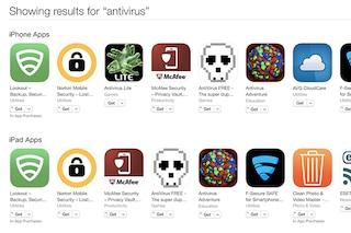 Apple, rimosse le applicazioni antivirus da App Store