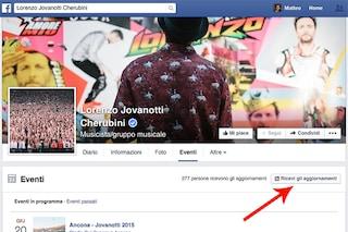 Facebook introduce un nuovo pulsante per concerti ed eventi