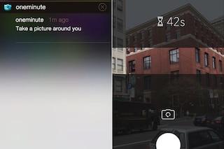 OneMinute, il social network per scattare una foto al giorno in 1 minuto