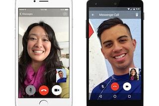 Facebook lancia le videochiamate su Messenger
