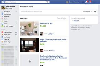 Facebook testa un motore di ricerca per acquistare beni in vendita all'interno dei gruppi