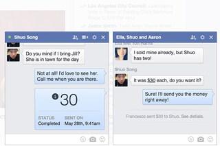 Facebook, novità per i pagamenti via Messenger