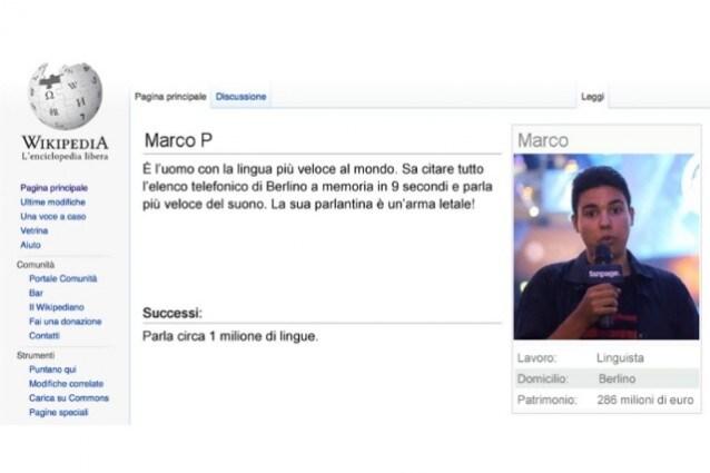 il vero io wikipedia parodia