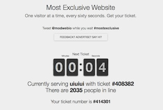 Il sito web più esclusivo del mondo: per entrare dovete aspettare ore in fila