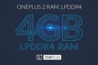 OnePlus 2, tra le caratteristiche tecniche 4 GB di RAM LPDDR4