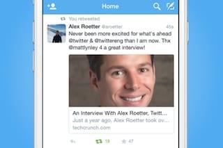 Twitter aggiorna la visualizzazione dell'anteprima dei link su smartphone