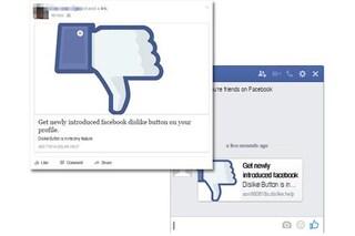 """Facebook, attenzione alla truffa: il finto link per attivare il pulsante """"Non Mi Piace"""""""