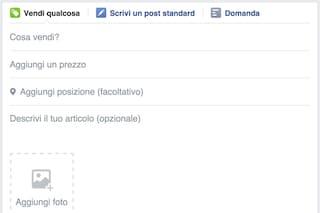 Facebook, da oggi è possibile vendere oggetti nei gruppi