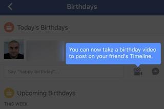 Facebook, in arrivo i messaggi video per augurare buon compleanno
