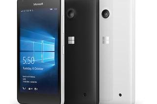 Microsoft Lumia 550, lo smartphone economico con Windows 10 Mobile