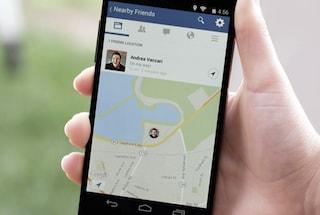 """Facebook lancia """"Amici nelle vicinanze"""", la funzione per geolocalizzare gli utenti"""