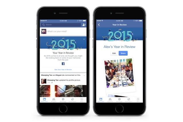 L'anno in breve su Facebook