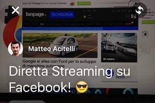Come fare una diretta streaming su Facebook