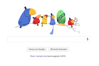 Felice Anno Nuovo, Google augura un buon 2016 con un doodle