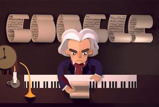245 anni di Ludwig van Beethoven nel nuovo Doodle di Google
