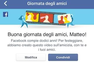 Facebook, come creare un video personalizzato per celebrare l'amicizia