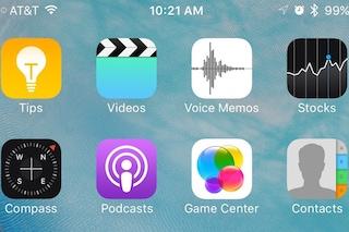 iOS, un nuovo aggiornamento consentirà di nascondere le app di serie
