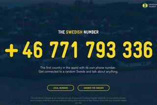 The Swedish Number, chiamando risponde un cittadino svedese a caso