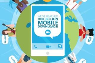 Skype, superato il miliardo di download per l'app mobile