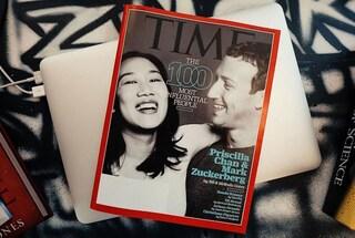 Zuckerberg e sua moglie sulla copertina del Time: sono tra le 100 persone più influenti